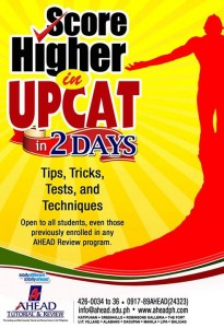 Poster for Additional UPCAT Services for Review Students