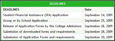DLSU deadline